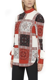 ALEXANDER MCQUEEN Blouse with cross-stitch patchs