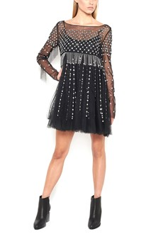 WANDERING Dress with Beads and Crystals
