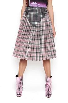 MARCO DE VINCENZO Checked Skirt