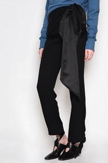 J.W.ANDERSON Silk cummerbund pants with lace on waist