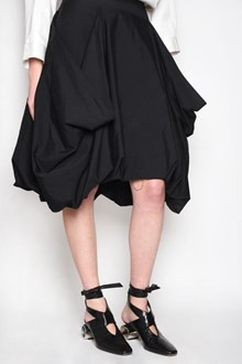 J.W.ANDERSON Cotton draped skirt with pleated back