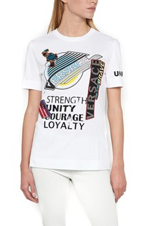VERSACE T-Shirt with Prints,Patches and 'Love' Manifesto