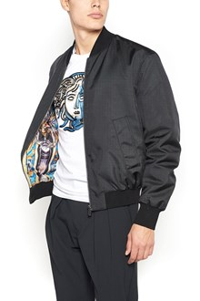 VERSACE Black Polyester Bomber Jacket