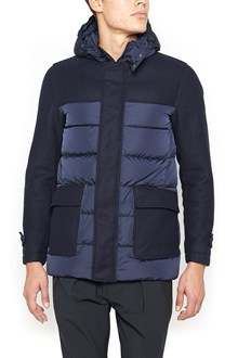 HERNO Down Jacket with Wool Sleeves