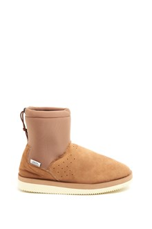 SUICOKE Suede and neoprene boots with drawstring on the ankle