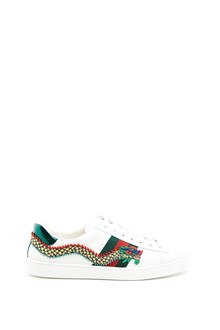 GUCCI 'Ace' leather sneakers with 'Dragon' patch