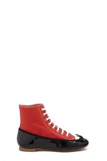 MARCO DE VINCENZO Ballet Flats with High Top Sneakers