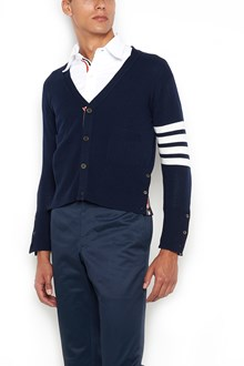 THOM BROWNE Cashmere cardigan with 4 stripes