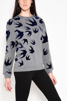 McQ ALEXANDER McQUEEN 'Swallows' velour printed sweatshirt