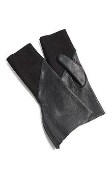 RICK OWENS Leather gloves with mutton