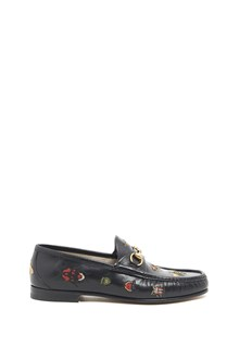 GUCCI Loafers with embroidered Animals