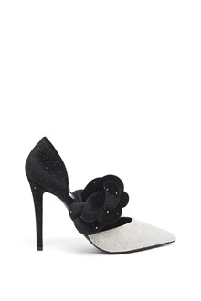 MARCO DE VINCENZO Pumps with Strass and Glittered Twist
