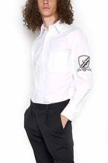THOM BROWNE logo sleeve shirt