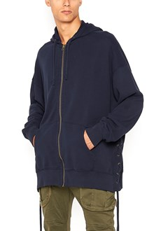 FAITH CONNEXION Zipped oversize hoodie with laces on the side