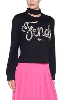 FENDI logo pealrs sweatshirt
