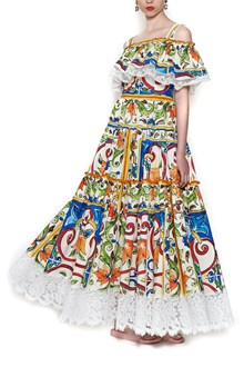 DOLCE & GABBANA 'Mailoica' printed dress