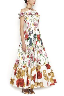 DOLCE & GABBANA printed mix dress