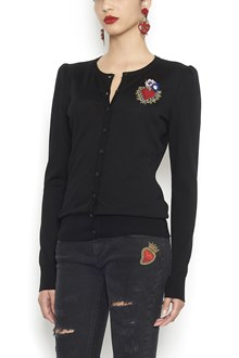 DOLCE & GABBANA patch cardigan