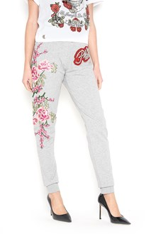 PHILIPP PLEIN Embroidered sweatpants with crystals