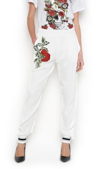 PHILIPP PLEIN Sweatpants with roses patch