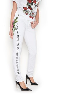 PHILIPP PLEIN Printed jegging jeans with patch