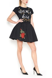 PHILIPP PLEIN Skirt with roses patch