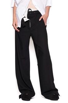 ANN DEMEULEMEESTER pantalone doppio strato