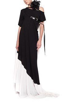 ANN DEMEULEMEESTER bicolor dress