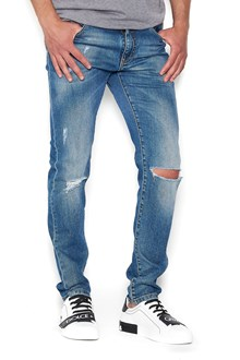 DOLCE & GABBANA ripped knee jeans