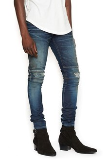 BALMAIN jeans bimateriale