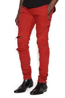 BALMAIN jeans broderie