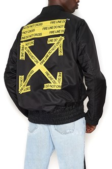 OFF-WHITE 'firetape' bomber jacket