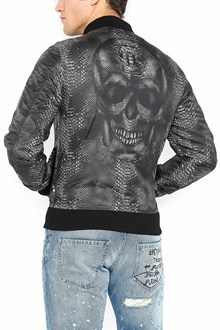 PHILIPP PLEIN all over snake printed bomber jackets