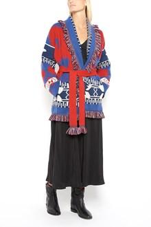 ALANUI Embroidered fringed unisex cardigan