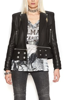 BALMAIN zipped leather jacket