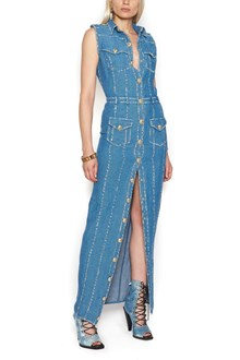 BALMAIN denim long dress