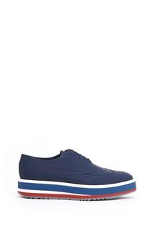 PRADA multicolor sole lace-up shoes