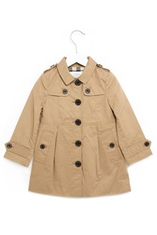 BURBERRY trench coat with check collar