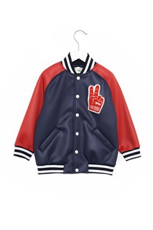 FENDI KIDS bomber jackets with patches