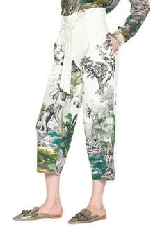 ALBERTA FERRETTI 'indian forest' wide leg pants