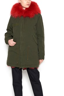 MR & MRS ITALY parka with fuxia fur