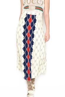 GUCCI 'rumbus chain & web' printed skirt