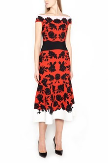 ALEXANDER MCQUEEN vestito midi stampa all over