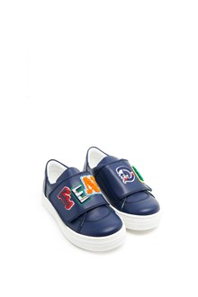 FENDI KIDS logo patches sneakers