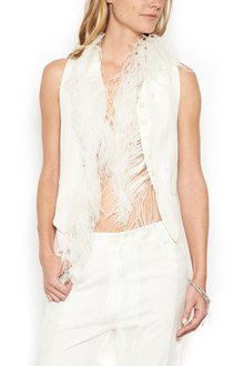 ANN DEMEULEMEESTER feathers vest