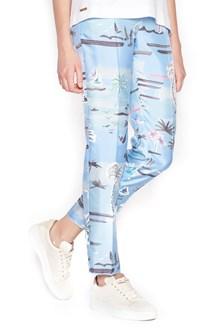 AGNONA pantalone stampa palme
