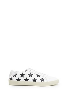 SAINT LAURENT black stars patches sneakers
