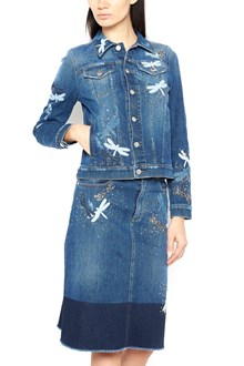 REDVALENTINO denim jacket with strass
