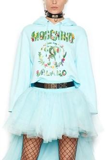 MOSCHINO floreal logo hoodie