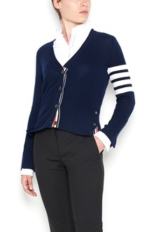 THOM BROWNE stripes sleeve cardigan